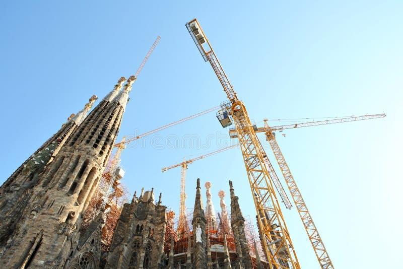 La Sagrada Familia di Expiatori de del tempiale fotografie stock