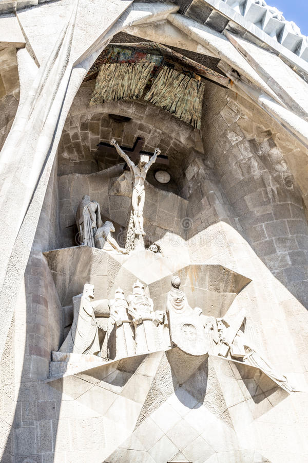 La Sagrada Familia en Barcelona is one of the most iconic buildings in the city royalty free stock photography
