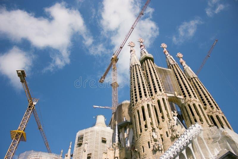 La Sagrada Familia by Gaudi in Barcelona stock image