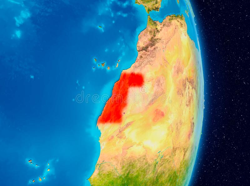 La Sahara occidental de l'espace illustration libre de droits