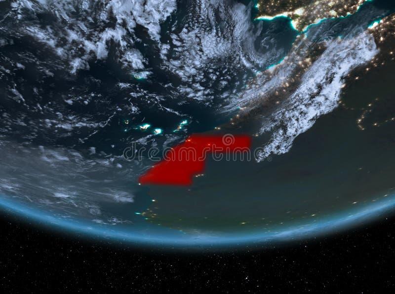 La Sahara occidental la nuit illustration libre de droits
