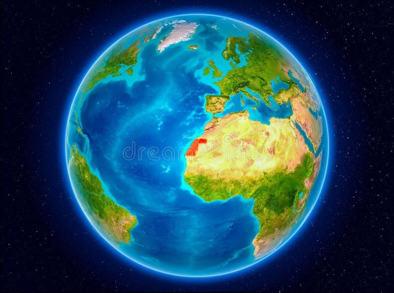 La Sahara occidental sur terre illustration de vecteur