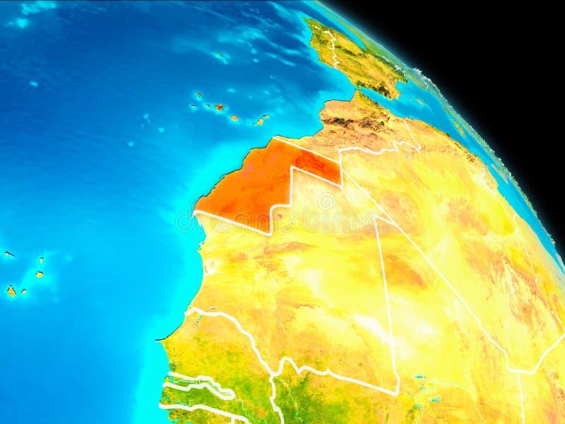 La Sahara occidental sur terre illustration libre de droits
