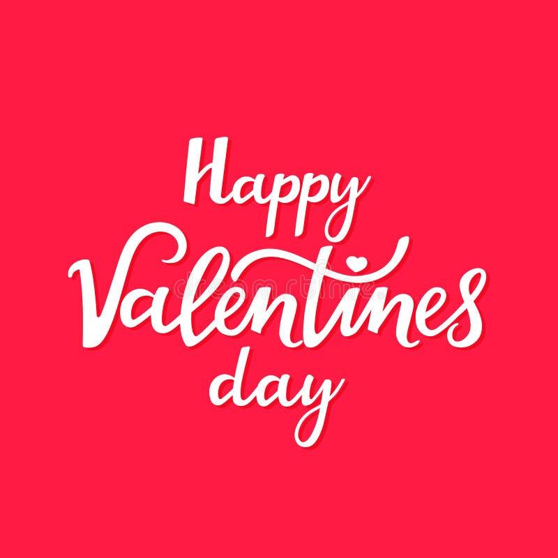 La Saint-Valentin heureuse est un beau lettrage manuscrit pour une affiche de fête, une carte de voeux pour votre aimé illustration de vecteur