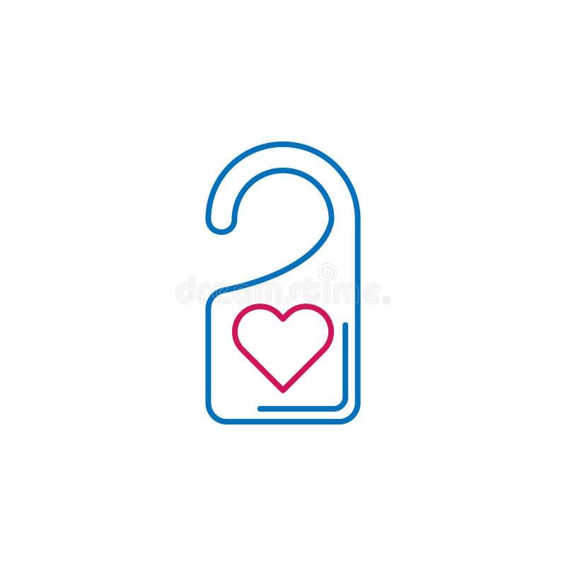 La Saint-Valentin, ne touchent pas à l'icône Peut être employé pour le Web, logo, l'appli mobile, UI, UX illustration stock