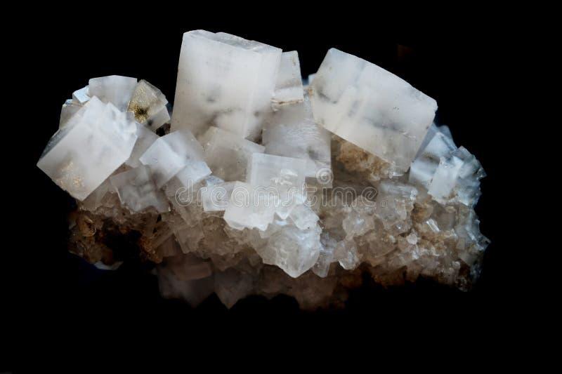 la sal cubica el mineral fotografía de archivo