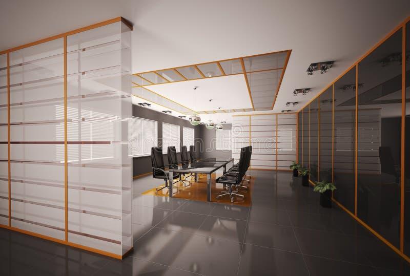La sala del consiglio 3d interno rende illustrazione vettoriale