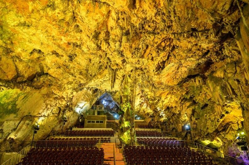 La sala dentro il ` s di St Michael frana Gibilterra fotografia stock libera da diritti