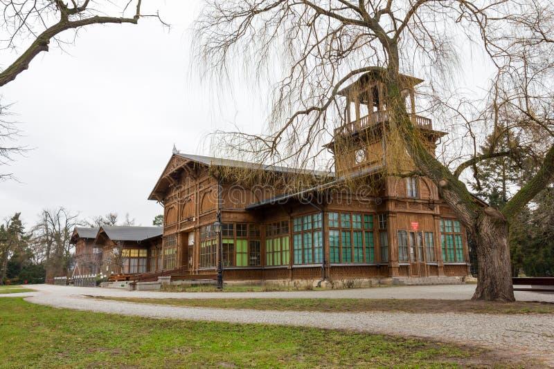 La sala pompe storica in Ciechocinek, Polonia immagine stock libera da diritti