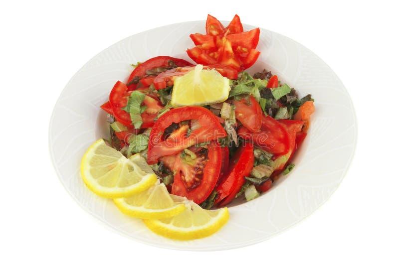 la salade a servi le légume de tomate images libres de droits