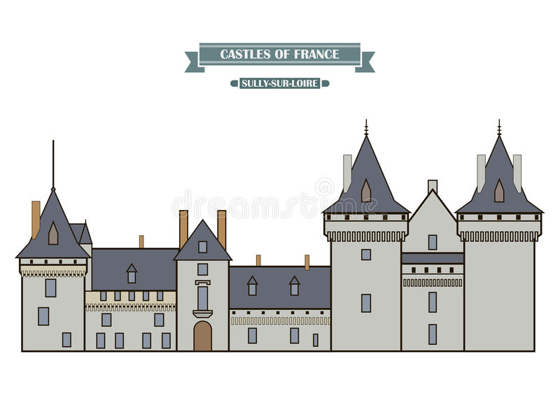 La Salir-sur-Loire, France illustration stock