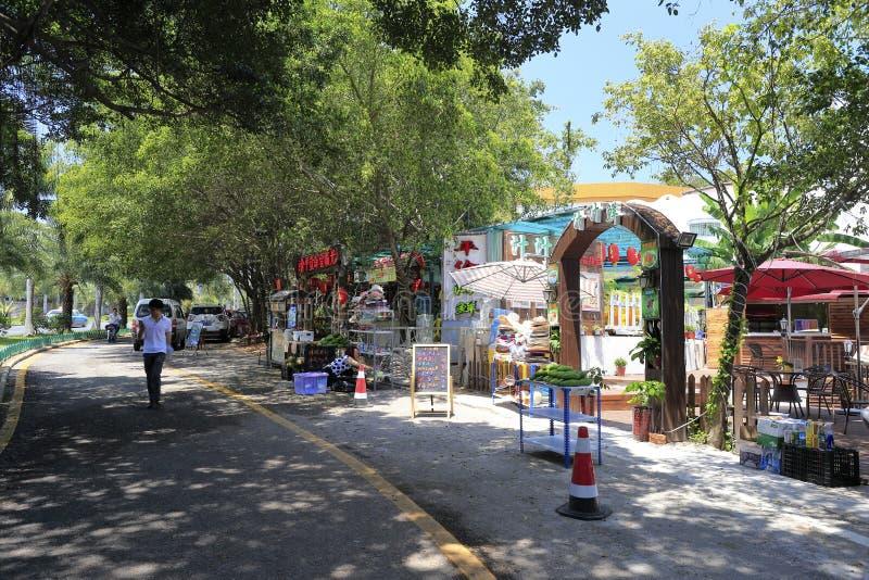 La salle à manger près de la route de huandaolu photos stock