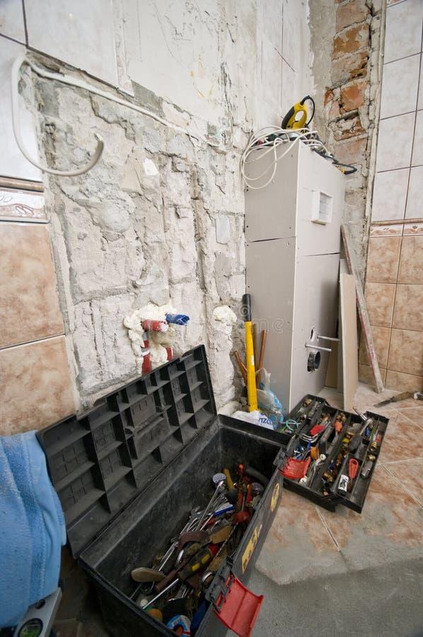 La salle de bains a rénové images stock