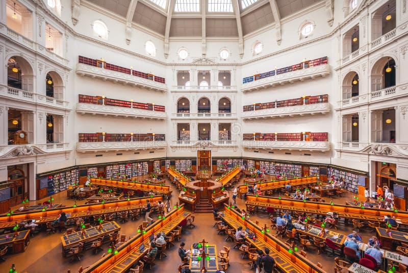 La salle de lecture de Trobe de La de la bibliothèque d'état de Victoria photos libres de droits