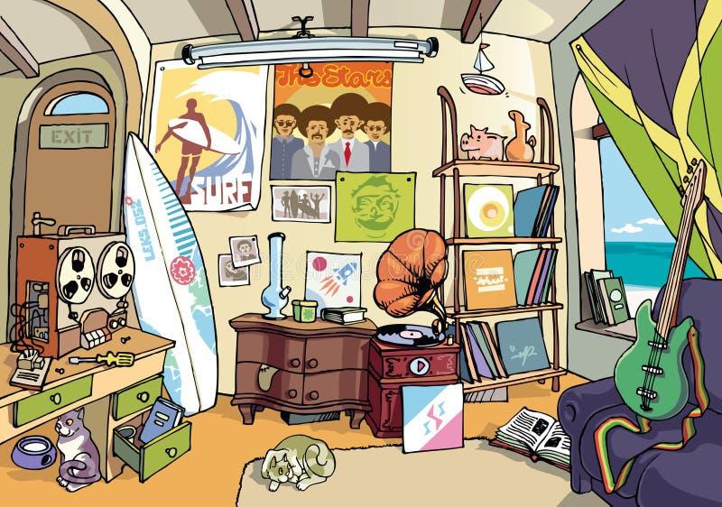 La salle du surfer illustration de vecteur