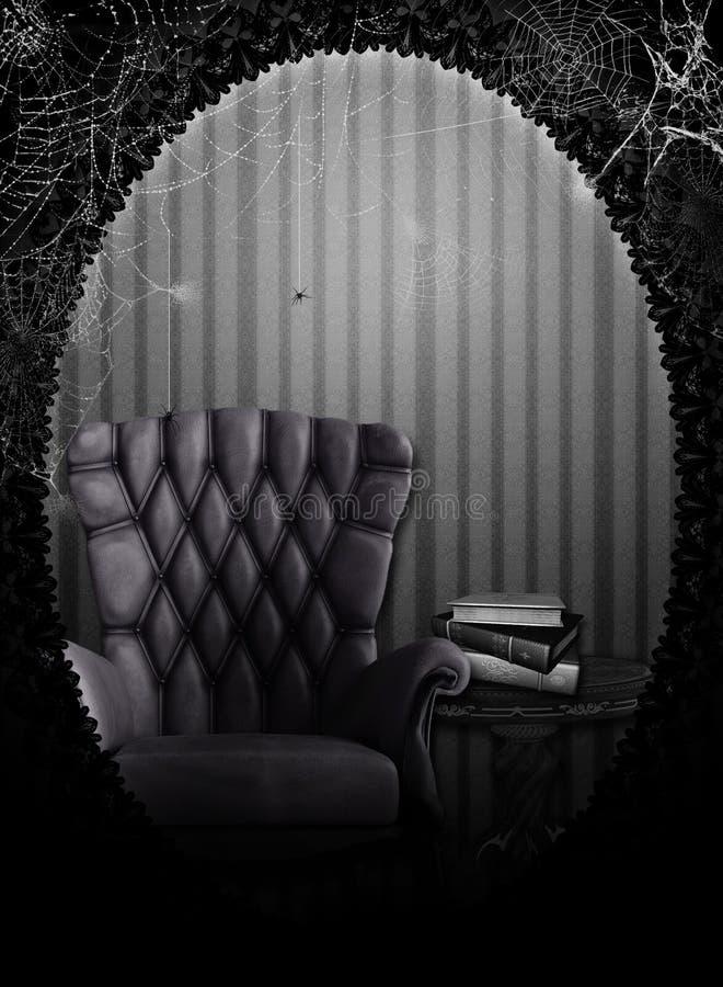 La salle hantée illustration stock