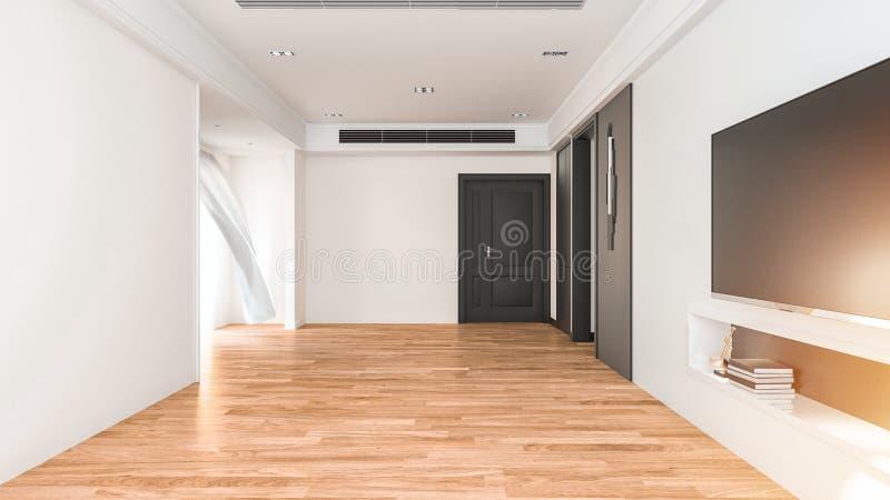 La salle vide en appartement illustration libre de droits