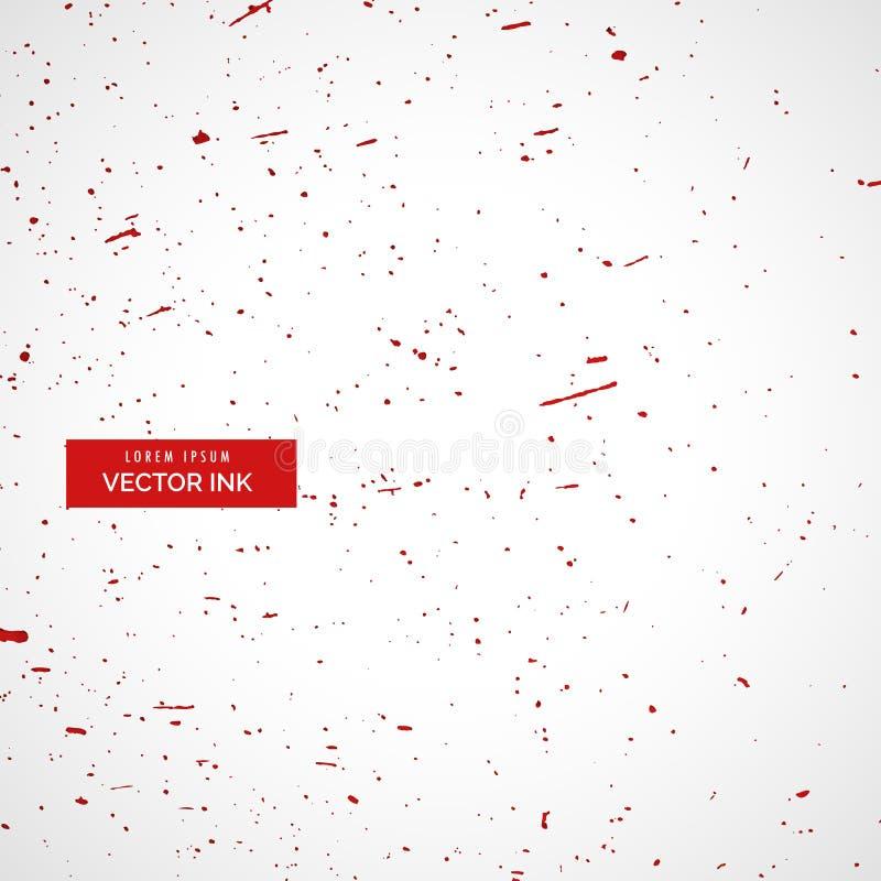 la salpicadura roja de la tinta o de la sangre salpica el fondo de la textura ilustración del vector