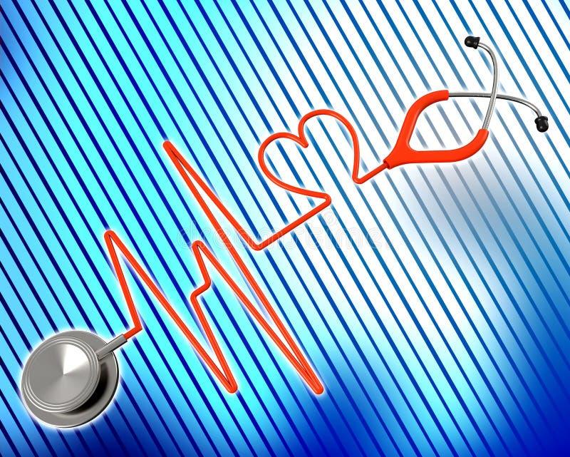 La salud médica representa la medicina preventiva y al cardiólogo ilustración del vector