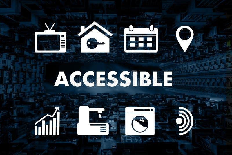 La salutation bienvenue accessible Access accessible de accueil entrent illustration de vecteur