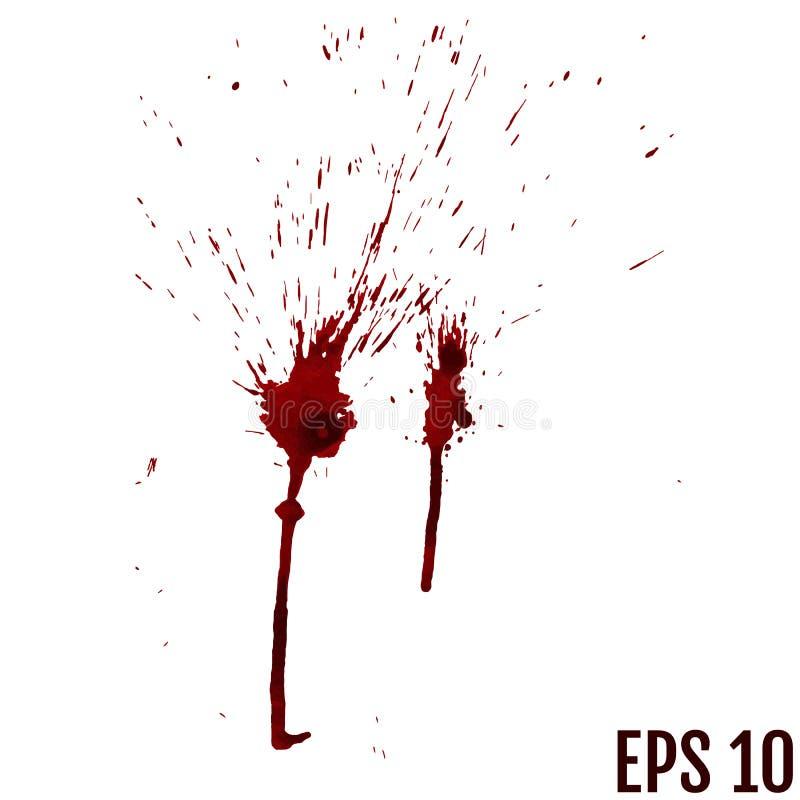 La sangre cae - criminalidad y violencia - el espray sangriento libre illustration