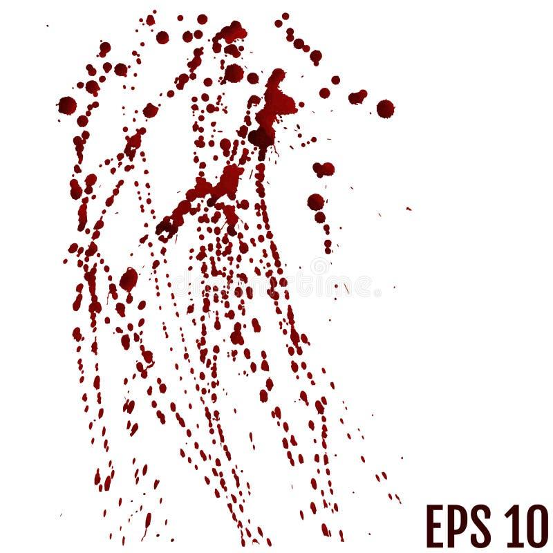 La sangre cae - criminalidad y violencia - el espray sangriento stock de ilustración