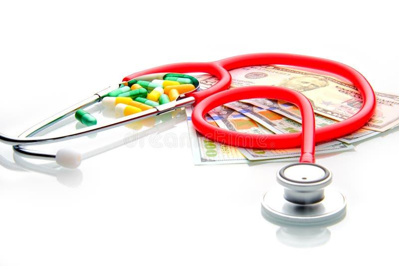 La santé moderne est chère, vous doit payer elle image libre de droits