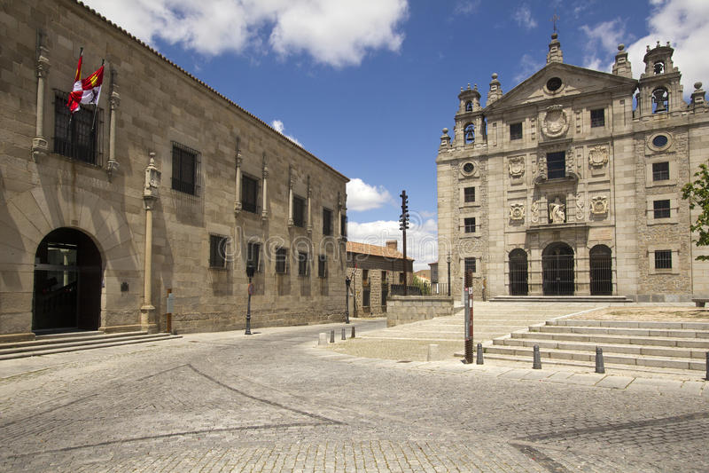 La Santa della plaza a Avila, Spagna fotografie stock