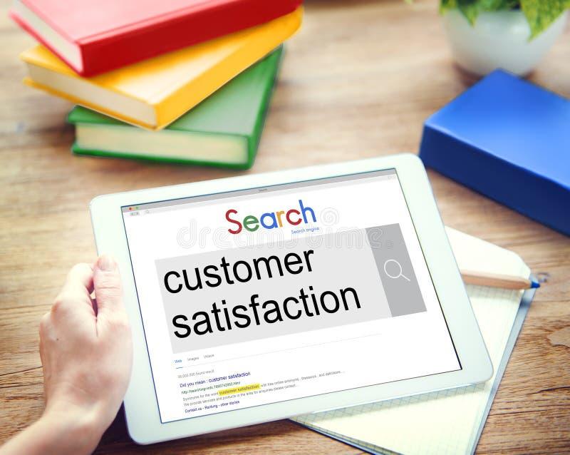 La satisfaction du client entretient le concept satisfaisant photo libre de droits