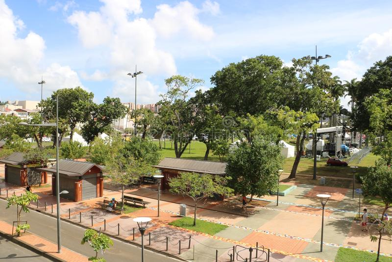 La Savane, Fort de France, Martinique stock afbeelding