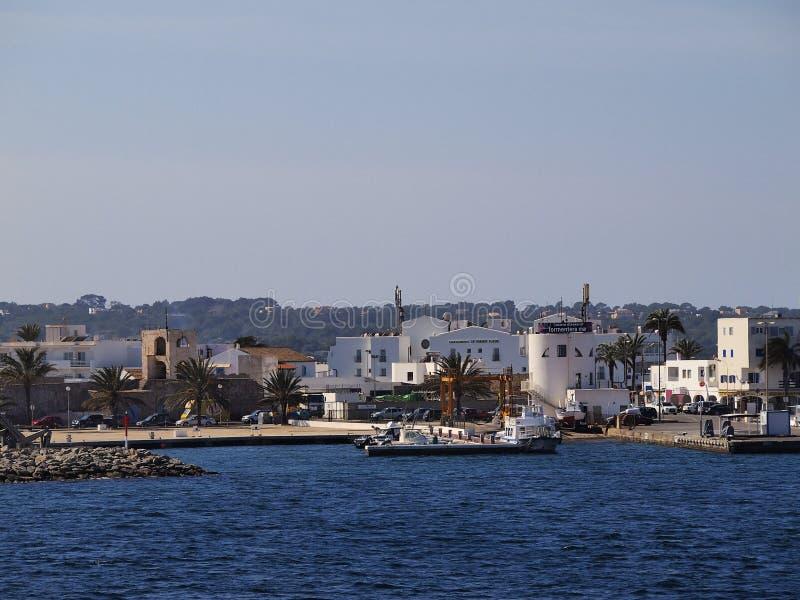 La Savina Port em Formentera imagens de stock royalty free