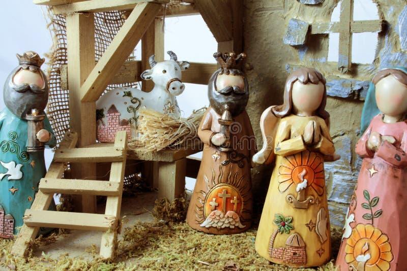 La scène de nativité de Noël photos stock
