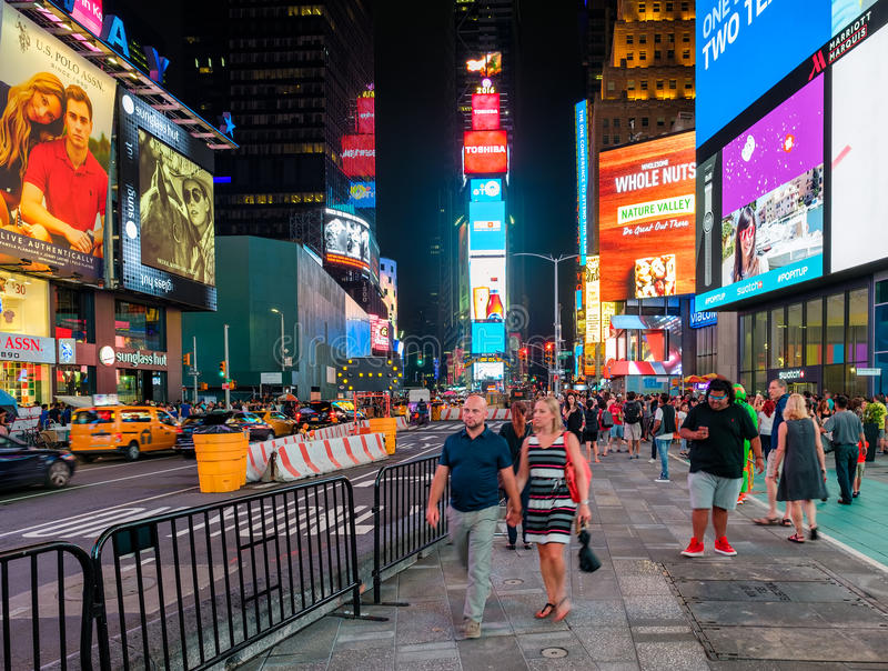 La scène de nuit ajustent parfois à New York City photos stock