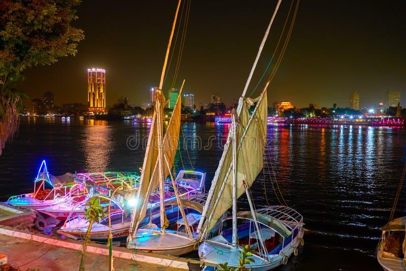La scène de nuit au Caire, Egypte photos stock