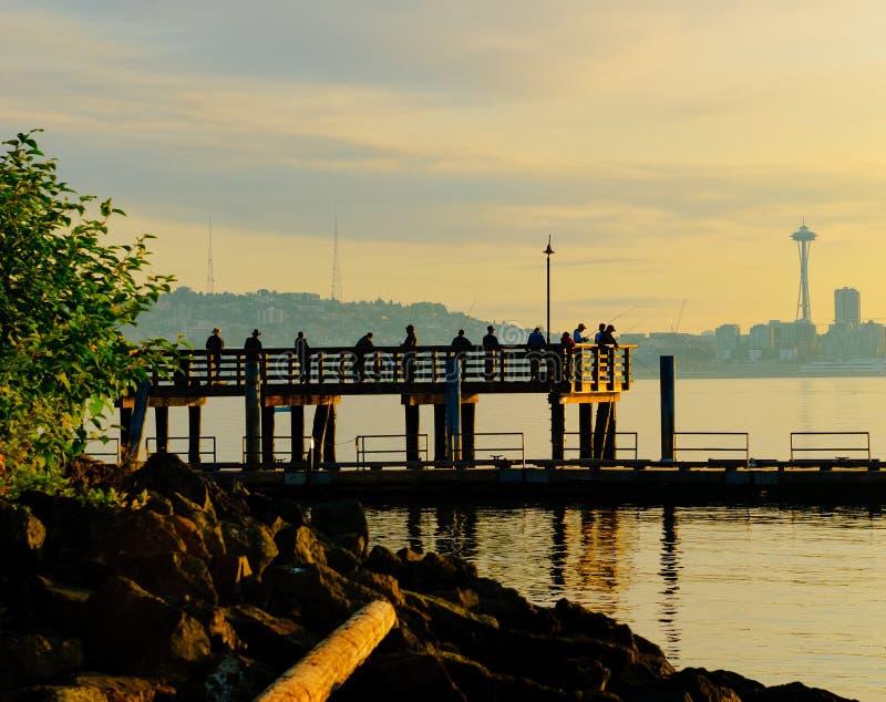 La scène de pêche de Seattle photos libres de droits