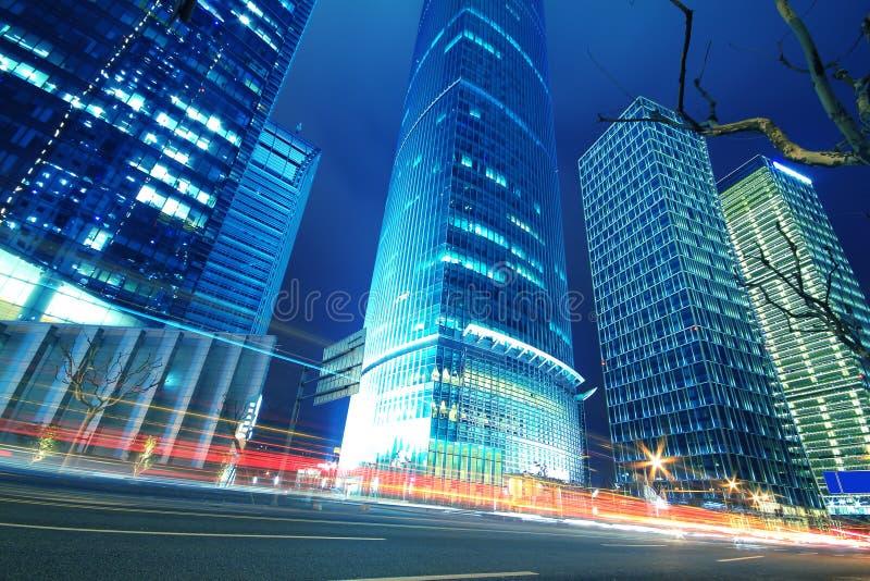 La scène de rue des milieux urbains modernes d'architecture dans le sha photo stock