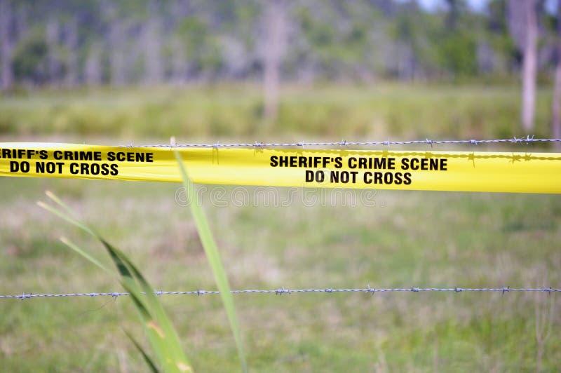 La scène du crime du shérif image libre de droits