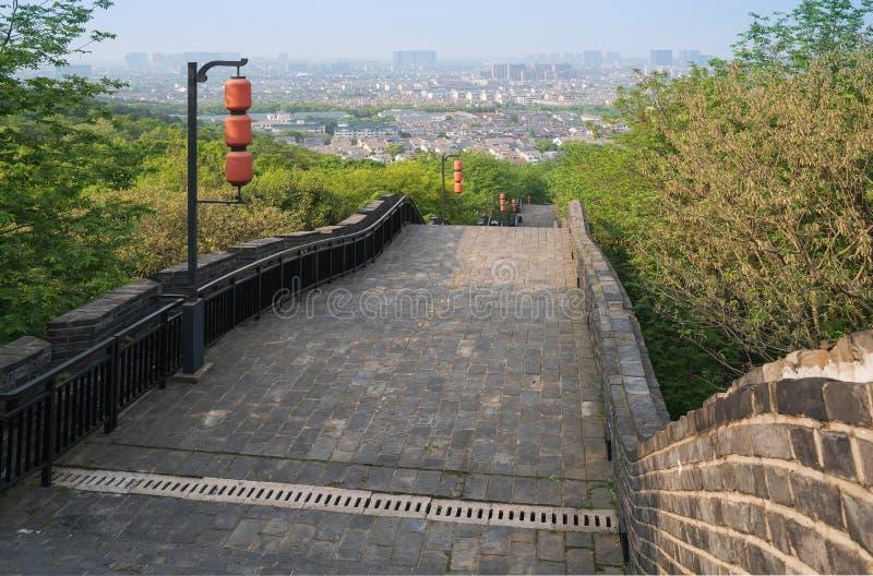 La scène du mur de ville antique de Suzhou Chine image libre de droits