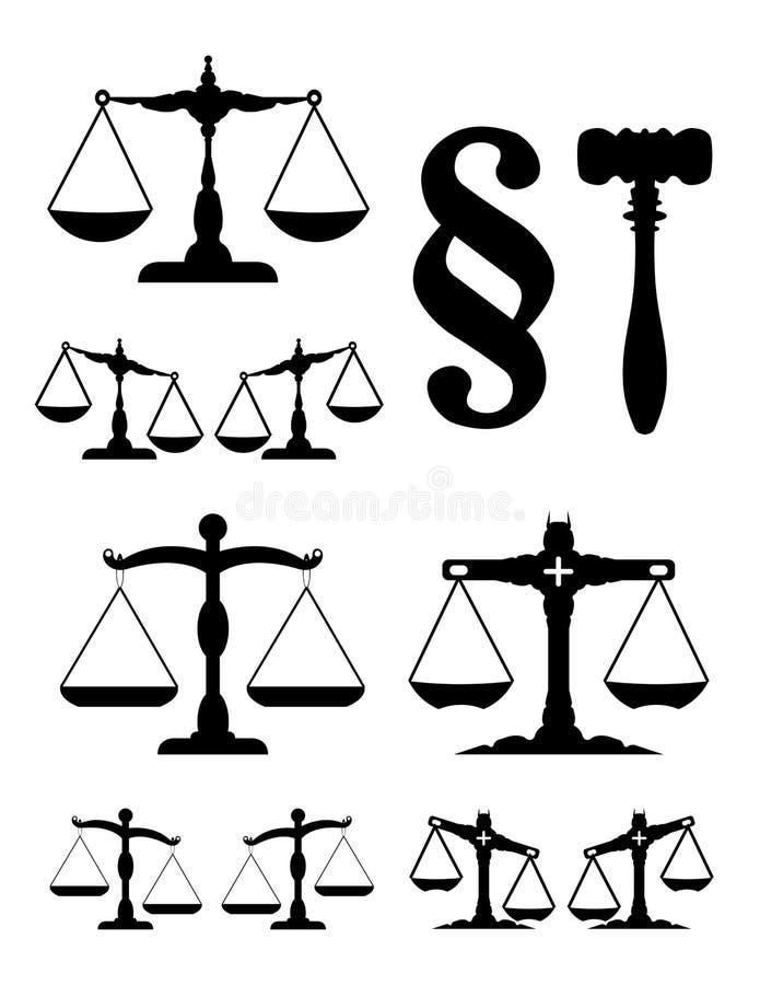 La scala di giustizia illustrazione vettoriale