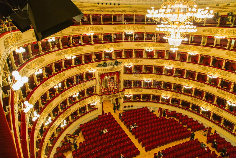 La Scala in Milaan royalty-vrije stock foto's