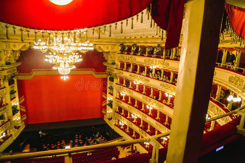 La Scala in Milaan stock fotografie