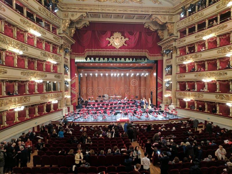La Scala Milan arkivbild