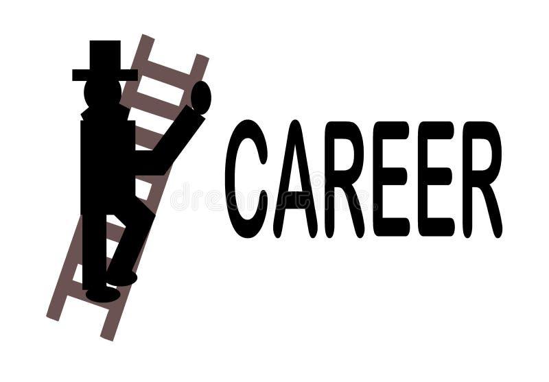 La scaletta di carriera royalty illustrazione gratis