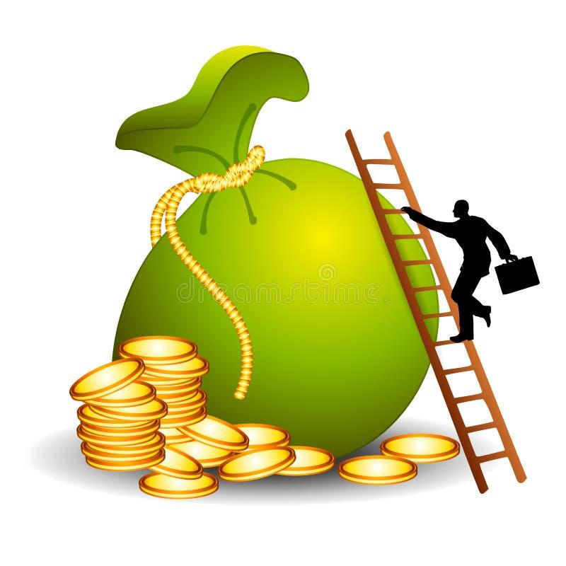 La scaletta a successo finanziario illustrazione vettoriale