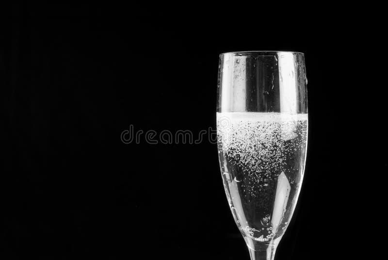 La scanalatura di Champagne ha riempito di spumante immagine stock