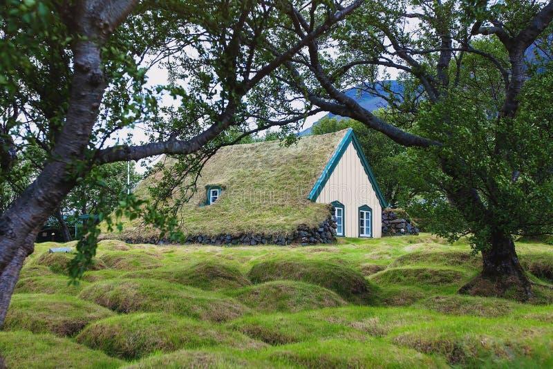La Scandinavia, casa tradizionale immagini stock
