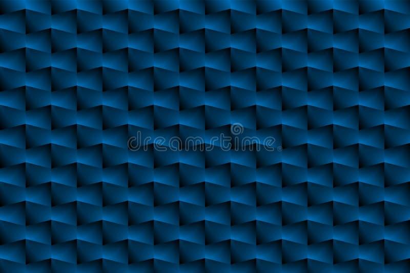 La scatola blu è un modello come fondo astratto illustrazione di stock