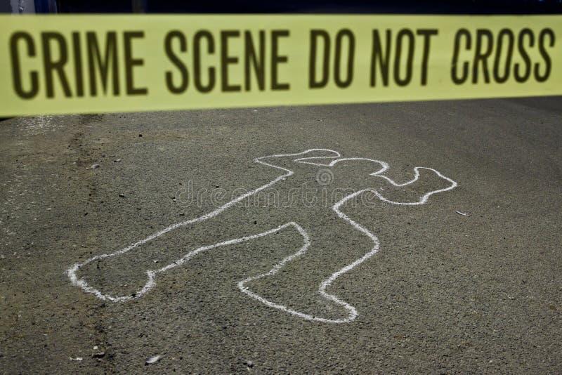La scena del crimine non attraversa fotografie stock