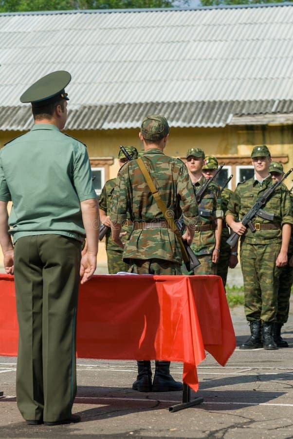 La scena dell'esercito russo fotografie stock libere da diritti