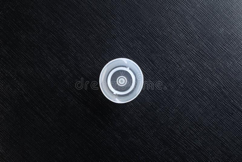 La scena di plastica del coperchio di colore bianco immagini stock